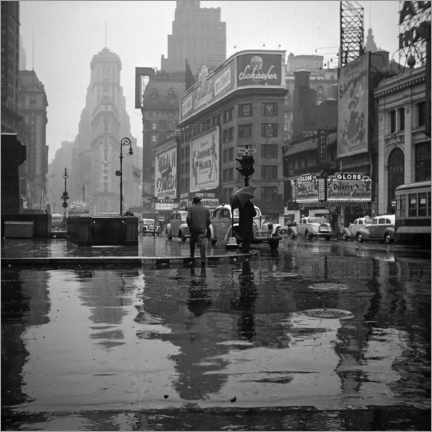 Juliste Times Square on a rainy day, 1943