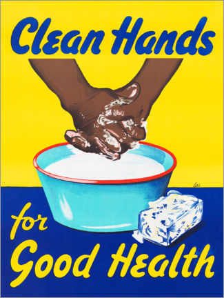 Canvas-taulu  Clean hands for good health - Advertising Collection