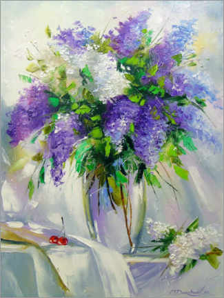 Juliste Bouquet of lilac in a vase