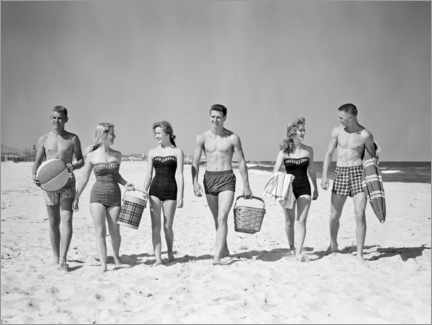 Juliste On the beach in the 50s