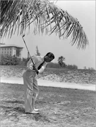 Juliste Golfers under palm trees in Florida, 1930s
