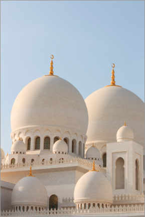 Canvas-taulu  The Sheikh Zayed Mosque in Abu Dhabi - CuboImages