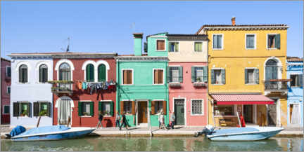 Juliste Colorful house facades on Burano