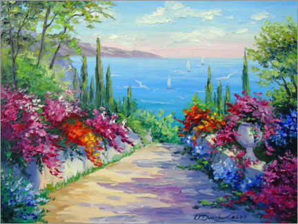 Canvas-taulu  The gardens by the sea - Olha Darchuk