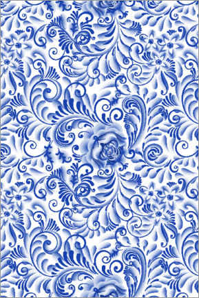 Canvas-taulu  Traditional Delft blue