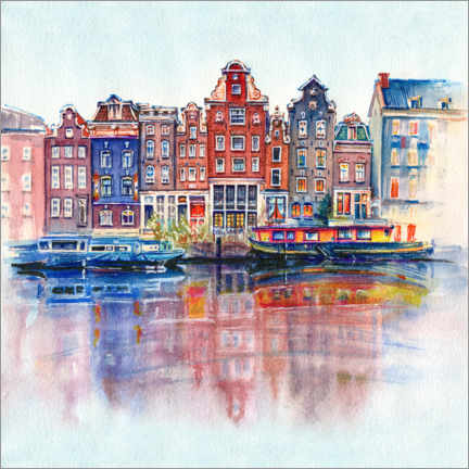 Canvas-taulu  The canals of Amsterdam