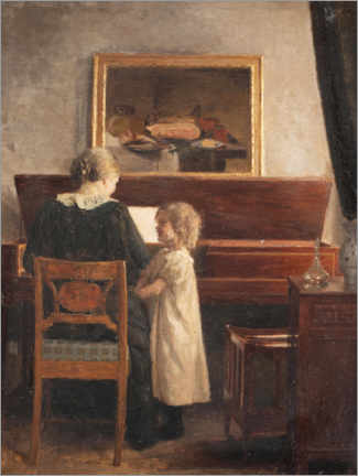 Canvas-taulu  At the piano - Peter Vilhelm Ilsted