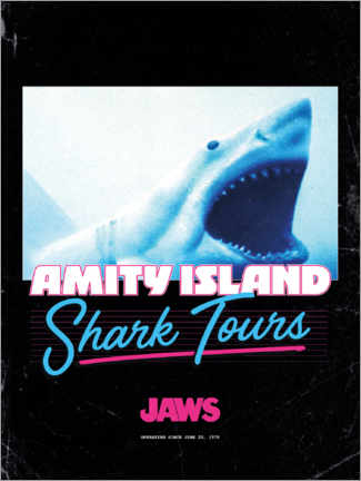 Canvas-taulu  Shark Tours, retro