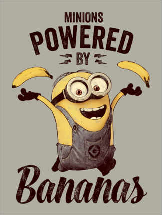 Juliste  Minions - Powered by Bananas