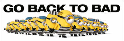 Juliste Minions - Back to bad