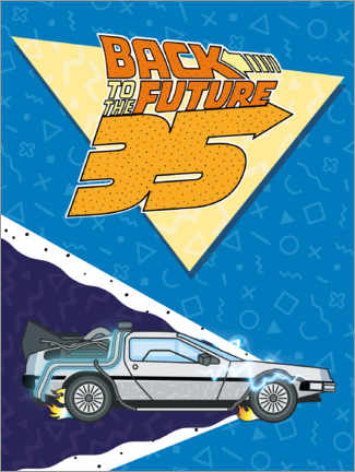Juliste  DeLorean Retro Illustration