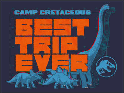 PVC-taulu  Camp Cretaceous - Best trip ever