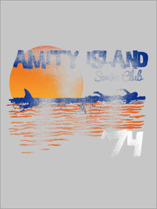 Canvas-taulu  Amity Island Swim Club