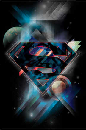 Juliste  Superman Iconic Space Shield
