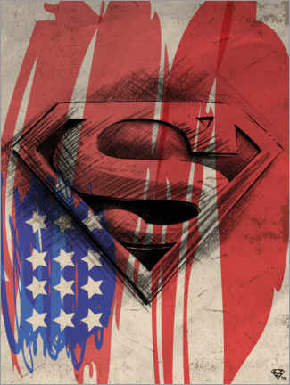 Juliste  Superman Shield Sketch