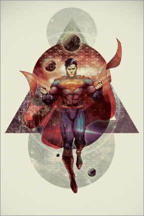Juliste  The powerful Superman
