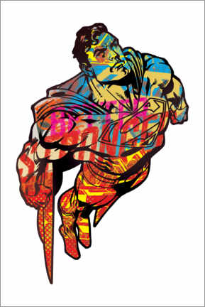 Juliste  Superman Pop Art Graffiti