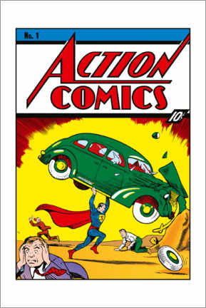 Juliste  Superman Action Comics No.1
