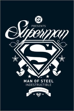 Juliste  Superman, indestructible