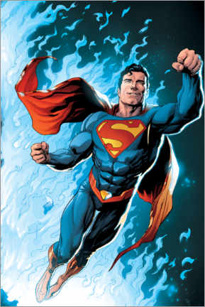 Juliste  Superman - Blue Flame