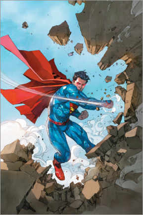 Juliste  Superman breaking walls