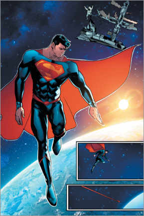 Juliste  Superman space comic