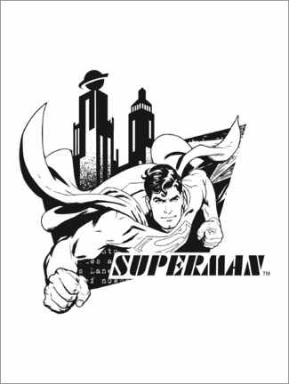 Juliste  Superman Minimal Metropolis