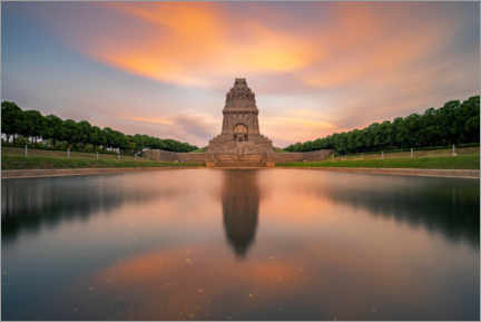 Akryylilasitaulu  Monument to the Battle of the Nations at sunset - Andreas Vitting