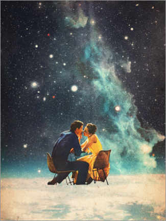 Canvas-taulu  I'll Take you to the Stars for a second Date - Frank Moth