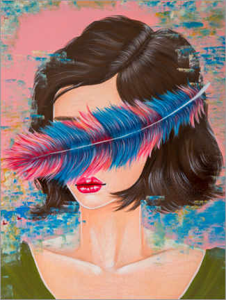 PVC-taulu  Lost in colours - Mandy Reinmuth