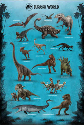 Juliste  Jurassic World - Dinosaurs