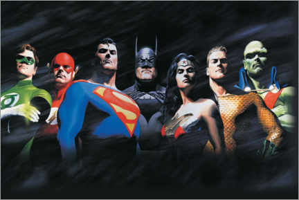 Juliste  Justice League - The Original Seven