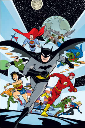 Juliste  Justice League Hero Run
