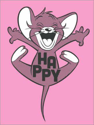 Canvas-taulu  Happy Jerry Pink