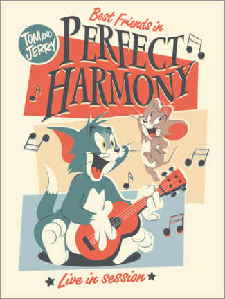 Akryylilasitaulu  Tom and Jerry - Perfect harmony