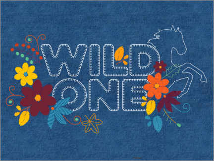 Juliste  Wild one embroidery