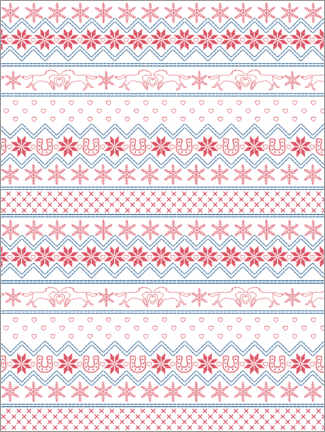 Alumiinitaulu  Winter pattern