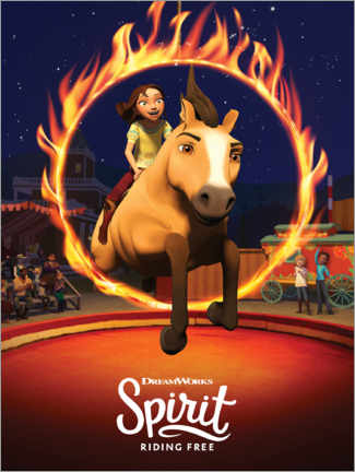 Canvas-taulu  Spirit Riding Free - Arena