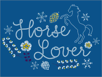 Juliste  Horse lover embroidery
