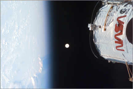 Puutaulu  Earth, Moon and Hubble - NASA