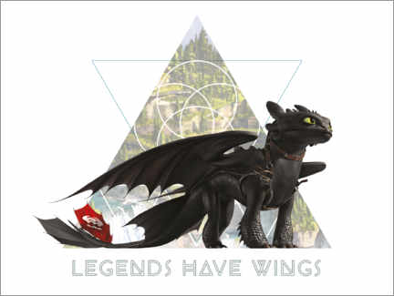 Canvas-taulu  Legends have wings - Toothless