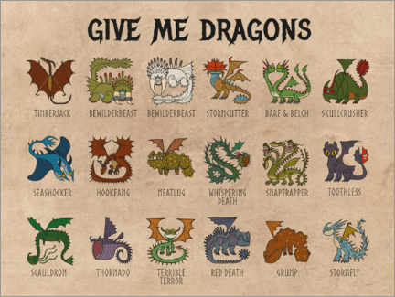 PVC-taulu  Give me dragons