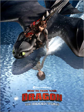 PVC-taulu  The Hidden World - Hiccup & Toothless