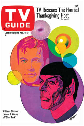 Canvas-taulu  Star Trek - Retro Cover 1967 - TV Guide