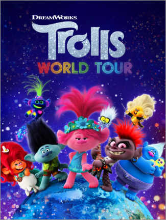 Puutaulu  Trolls World Tour - Around the globe