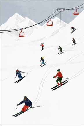 Galleriataulu  On the ski slope - Victoria Borges