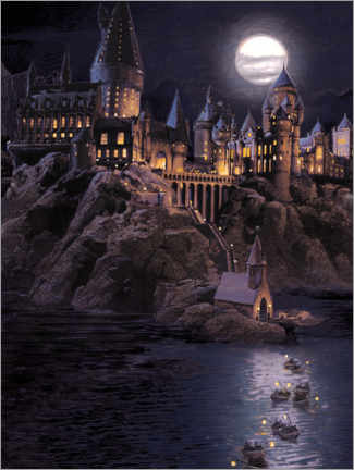 Juliste  Harry Potter - Boats to Hogwarts