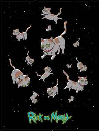 Juliste  Rick and Morty - Space Cats
