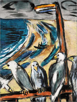Akryylilasitaulu  Seagulls in the storm - Max Beckmann