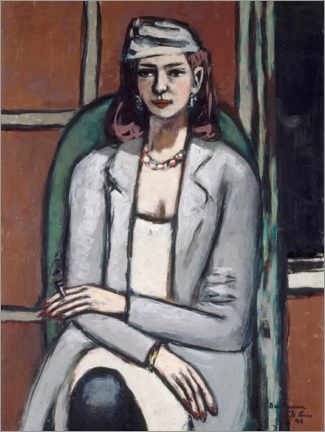 Juliste  Quappi in gray - Max Beckmann